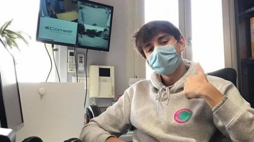Filip zdraví do Česka z krásné Itálie